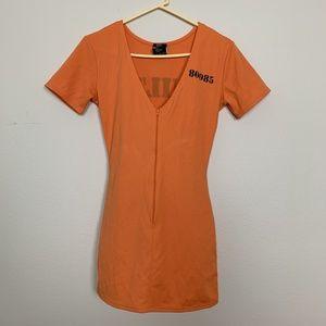 Leg Avenue Penitentiary Dress Halloween S/ M #2364